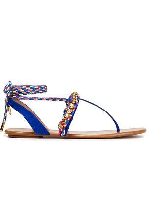 Aquazzura Women Sandals - Woman Flat Sandals Bright Size 35