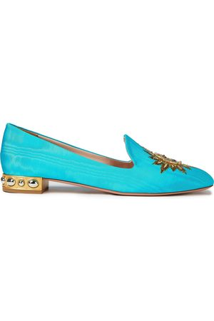 Aquazzura Women Loafers - Woman Loafers Turquoise Size 40