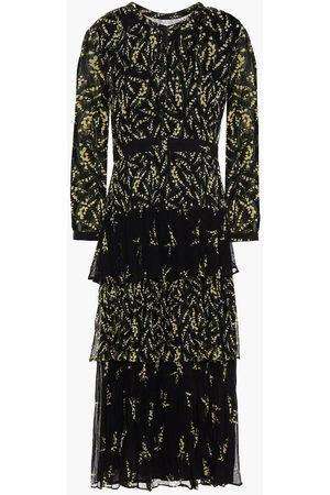 Bash Woman Morris Tiered Floral-print Crepon Midi Dress Size 0