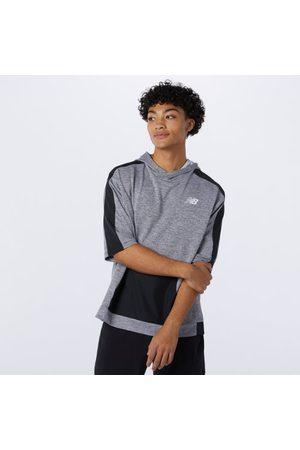 New Balance Men's Tenacity Lightweight Knit Short Sleeve Hoodie