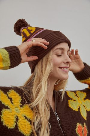 iets frans... Iets frans. Ski Beanie - Brown ALL at Urban Outfitters