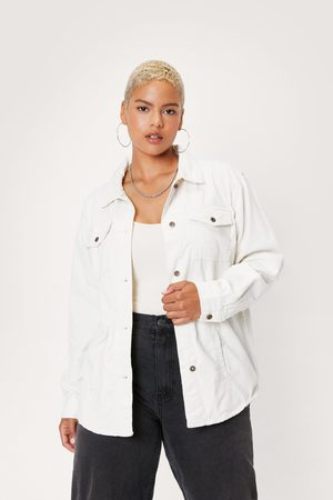 NASTY GAL Womens Plus Size Corduroy Shirt Jacket