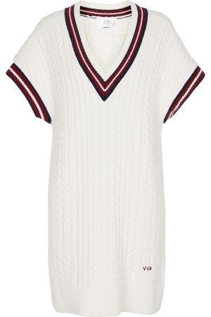 Victoria Victoria Beckham Contrast-trim knitted minidress