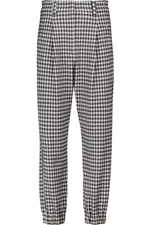 Brunello Cucinelli Gingham wool and cotton pants