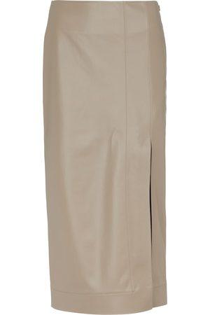 Safiyaa Madelle faux leather midi skirt