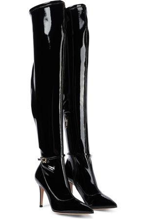 Gianvito Rossi Ribbon Cuissard PVC over-knee boots