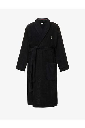 Paul Smith Men Bathrobes - Signature logo-embroidered cotton-towelling dressing gown
