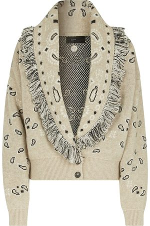 Alanui Bandana Jacquard wool-blend cardigan