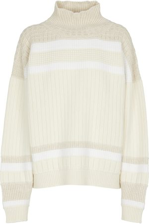 Barrie Women Turtlenecks - Striped cashmere turtleneck sweater