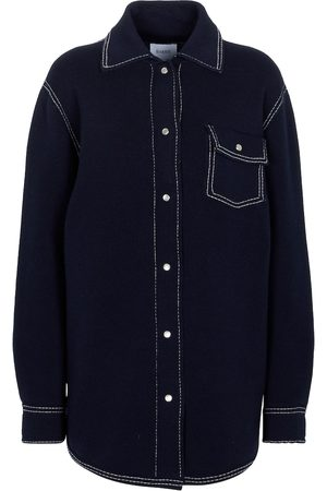 Barrie Cashmere and cotton knit shirt jacket