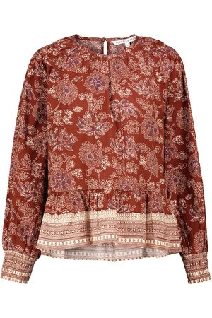 VERONICA BEARD Kester floral stretch-cotton blouse
