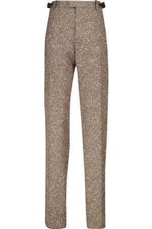 Bottega Veneta Herringbone slim-leg pants