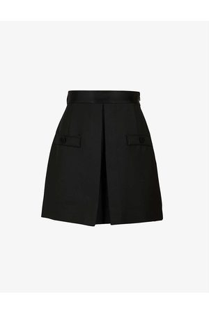 sandro Hugo high-rise woven shorts