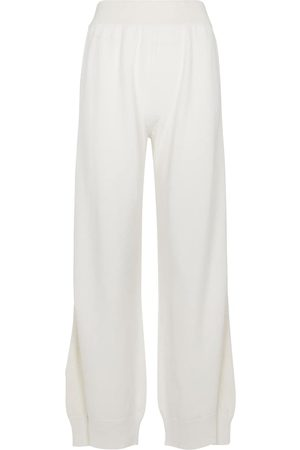 Barrie High-rise cashmere wide-leg pants