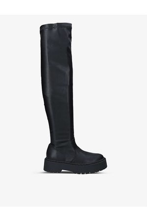 Steve Madden Women High Leg Boots - Esmee faux-leather over-the-knee boots