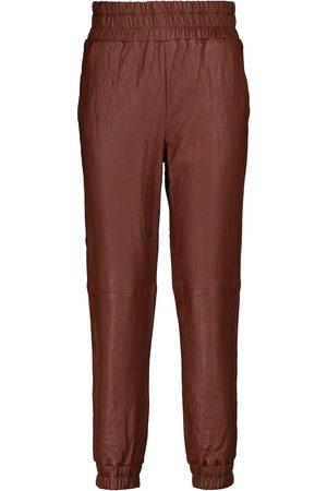 VERONICA BEARD Wasia mid-rise leather pants