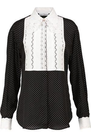 Paco rabanne Polka-dot crêpe blouse