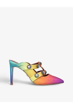 Kurt Geiger London Octavia gem-embellished suede heels