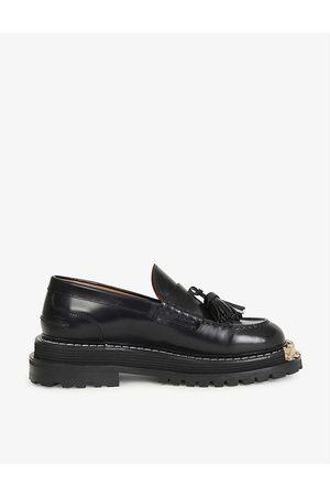 sandro Iron platform leather loafers