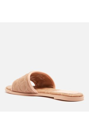 Coach Women's Olivea Quilted Leather Slide Sandals
