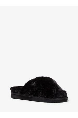 Michael Kors MK Lala Faux Fur Slide Sandal - - Michael Kors