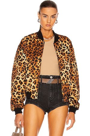 R13 Padded Bomber Jacket in Leopard