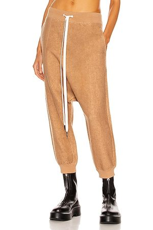 R13 Terry Twister Sweatpant in Camel