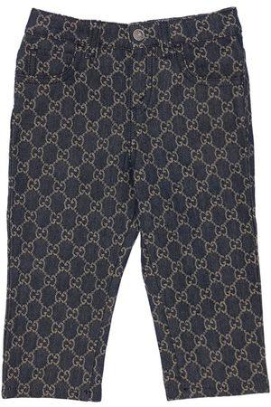 GUCCI Gg Organic Cotton Denim Jacquard Jeans