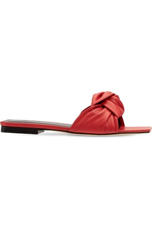 By Far 10mm Lima Leather Slide Sandals