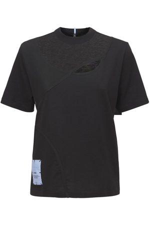 McQ Twisted Regular Cotton Patch T Shirt