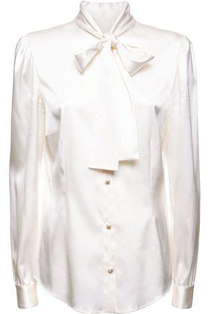 DOLCE & GABBANA Silk Twill Shirt W/bow