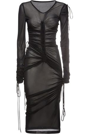 DOLCE & GABBANA Viscose Blend Jersey Midi Dress
