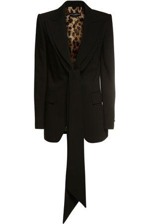 DOLCE & GABBANA Tailored Stretch Wool Jacket