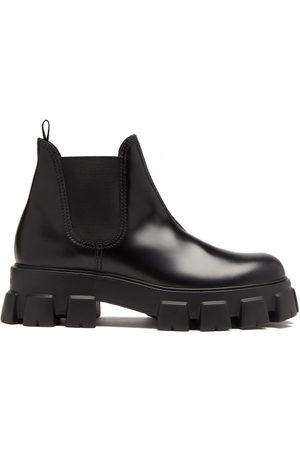 Prada Men Chelsea Boots - Monolith Leather Chelsea Boots - Mens