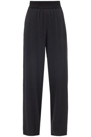 Raey Elasticated-waist Silk-blend Wide-leg Trousers - Womens