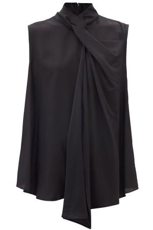 Raey Knotted-neck Sleeveless Top - Womens