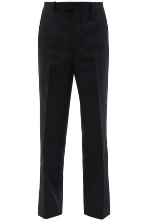 Prada Pinstripe Wool Wide-leg Trousers - Mens