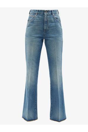 Gucci Women Wide Leg Trousers - High-rise Flared-leg Jeans - Womens