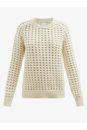 Bottega Veneta Open-knit Wool Sweater - Womens - Cream