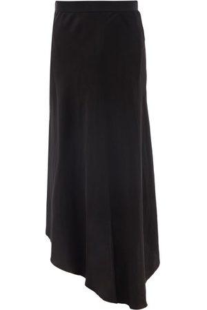 Raey Women Midi Skirts - Fluid Dip-hem Silk Midi Skirt - Womens