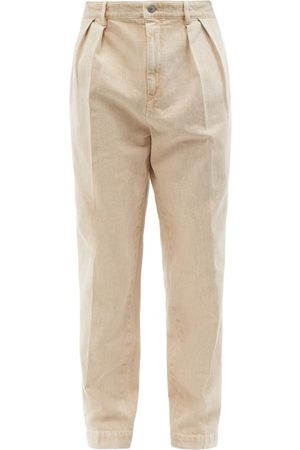Isabel Marant Nick Pleated Cotton-twill Relaxed-leg Trousers - Mens