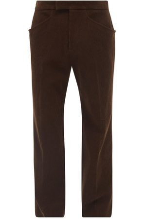 Gucci Cotton-corduroy Relaxed-leg Trousers - Mens
