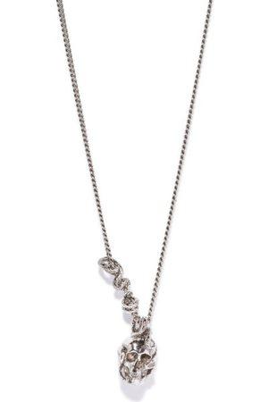Alexander McQueen Skull And Snake Pendant Necklace - Mens