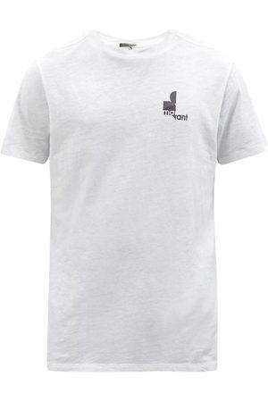Isabel Marant Zafferh Logo-print Organic-cotton Jersey T-shirt - Mens