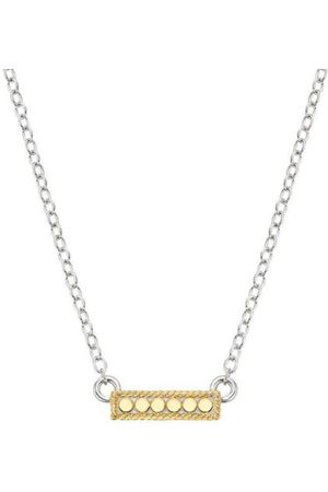 Anna Beck Classic Small Bar Dotted Necklace - Reversible Gold /