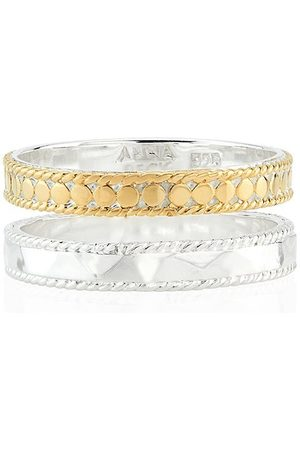 Anna Beck Hammered Double Band Ring - Gold & Mix