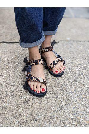 Arizona Love Leopard & Bandana Trekky Sandals