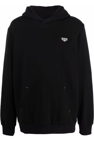 Philipp Plein Logo-plaque zip-up hoodie