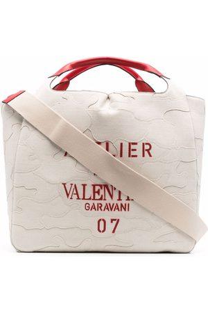 VALENTINO GARAVANI 07 Camouflage Edition Atelier tote bag - Neutrals