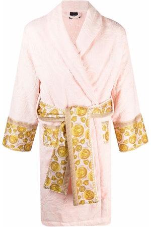 Versace Baroque-pattern tied-waist gown